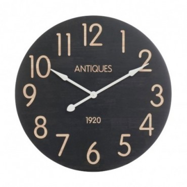 Horloge Antiques 192 0 Bois Noir Beige Large
