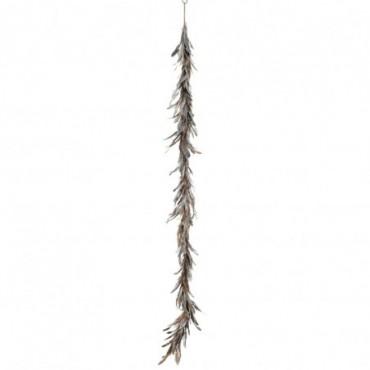 Guirlande décorative Plumes Argent