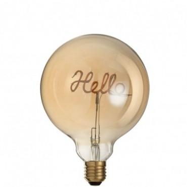 Ampoule Led Hello Verre Jaune-Or E27