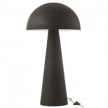 Lampe Champignon Métal Mat Noir Extra L