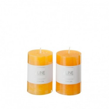 Bougie Parfumee Orange Mix petite Assortiment De 2