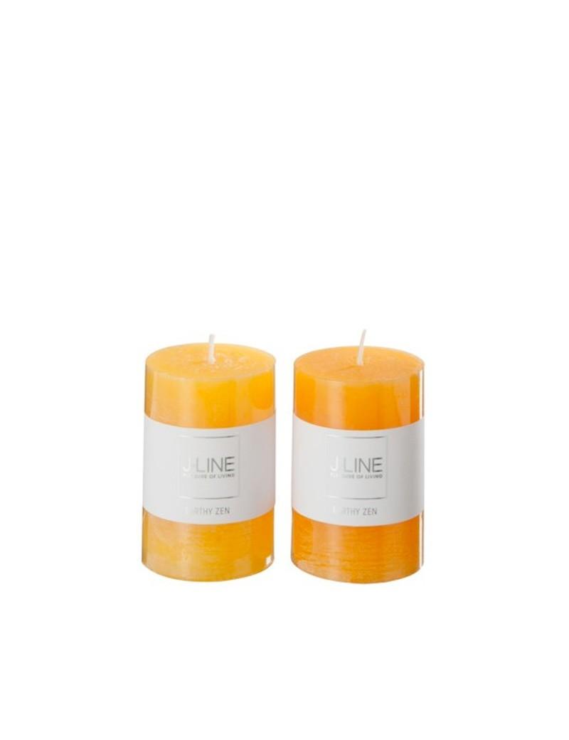 Bougie Parfumee Orange Mix petite Assortiment De 2