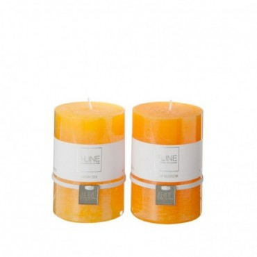 Bougie Parfumee Orange Mix Medium Assortiment De 2