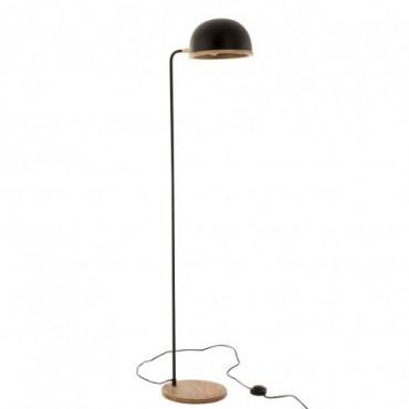 Lampe Evy Métal-Bois Noir