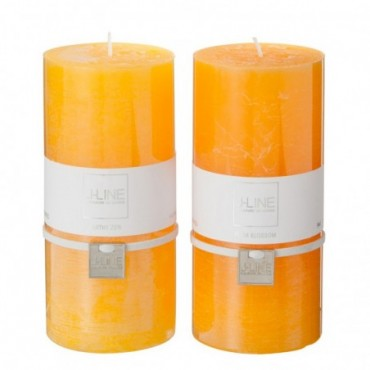 Bougie Parfumee Orange Mix grande Assortiment De 2