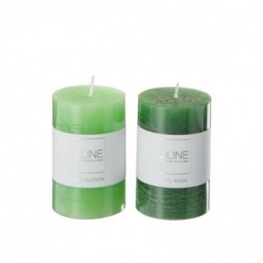 Bougie Parfumee Vert Mix petite Assortiment De 2