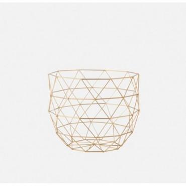 Panier géométrique en métal