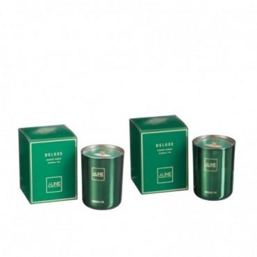 Bougie Parfumee Deluxe Vert petite Assortiment De 2-50H