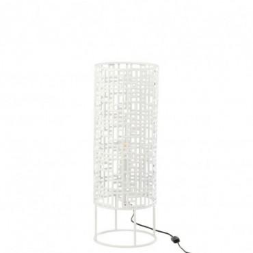 Lampe ronde Métal Blanc S