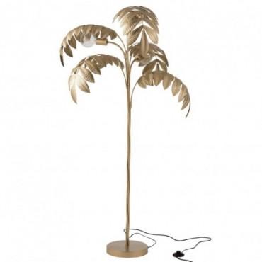 Lampe sur pied Palmier Zinc Or