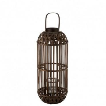 Lanterne Aeolus Bambou Noir L