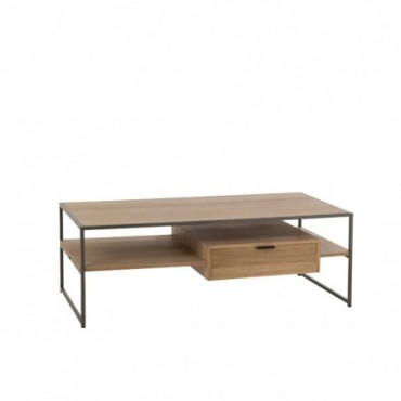 Table Tv 1 Tiroir Bois-Métal