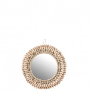 Miroir Mona Coquillages Rose Clair L