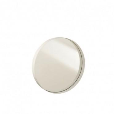 Miroir Rond Bord Métal Blanc M