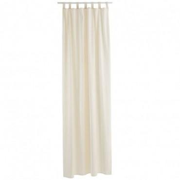 Rideau Long Velours Blanc