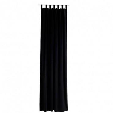 Rideau Long Velours Noir
