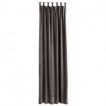 Rideau Long Velours Taupe