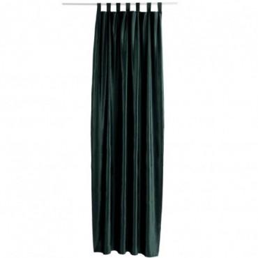 Rideau Long Velours Vert