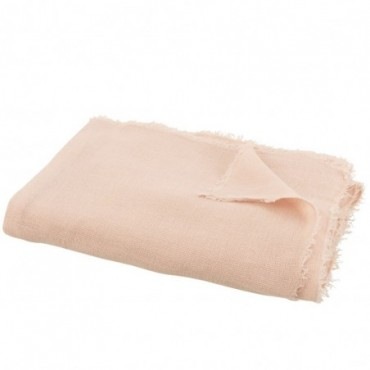 Plaid Uni Coton-Lin Rose