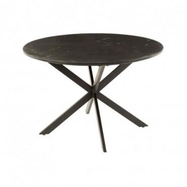 Table à manger Marc Marbre-Métal Noir