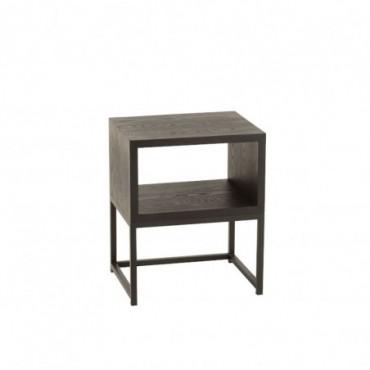 Table de chevet Bois-Métal Noir