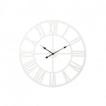 Horloge Metal Blanc L