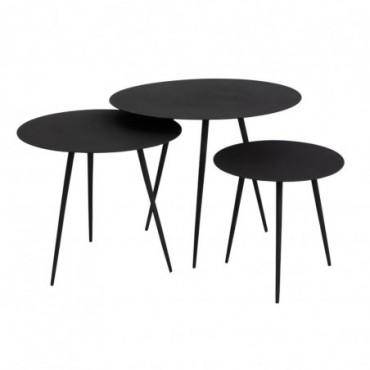 Tables Gigognes Métal Noir