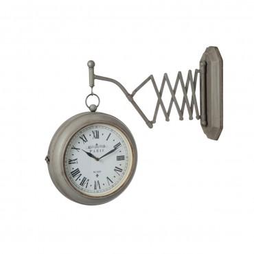 Horloge Extensible Murale Metal Gris de marque J-line