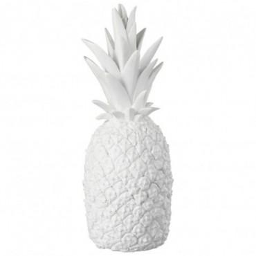 Ananas Brillant Blanc Resine Large