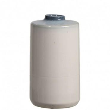 Vase Ceramique Bleu/Blanc Large