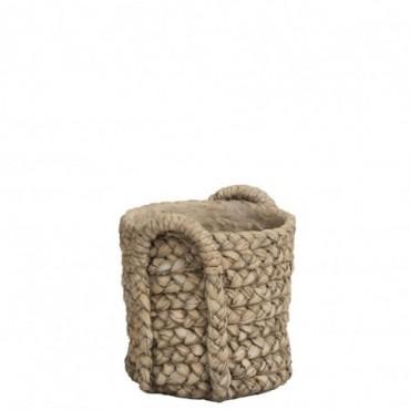 Cachepot Anses Ceramique Naturel M