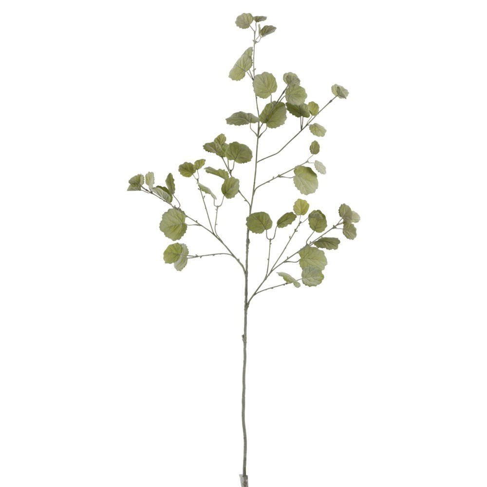 Branche Feuille Ronde Plastique Vert