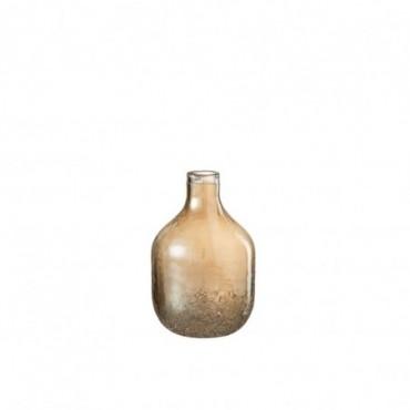 Vase Ambre Verre Or S