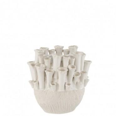 Vase Anemone Bas Céramique Beige
