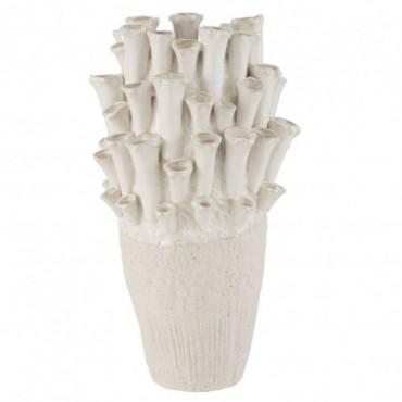 Vase Anemone Haut Céramique Beige