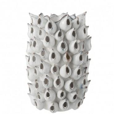 Vase Anemone Haut Céramique Bleu L