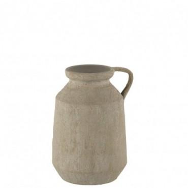 Vase Anse Tâches Céramique Gris S