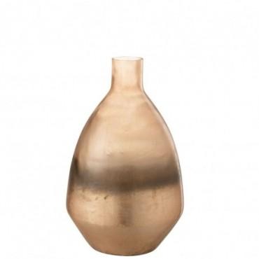 Vase Antique Rond Verre Or S