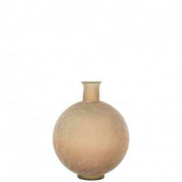 Vase Ball Glass Beige Wash