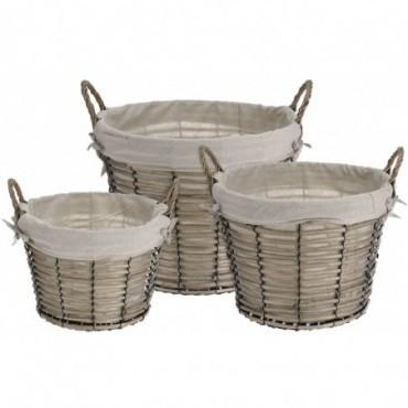 Assortiment de 3 paniers ronds