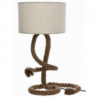 Lampe corde avec abat-jour
