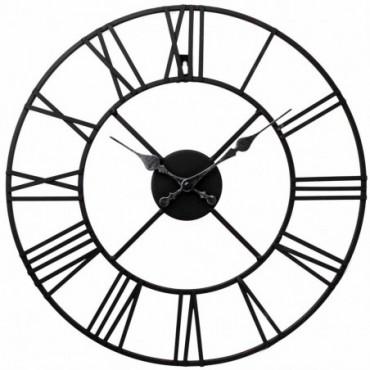 Horloge en métal chiffres romains 60 cm