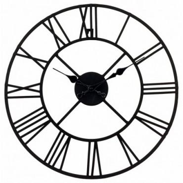 Horloge en métal chiffres romains 40cm