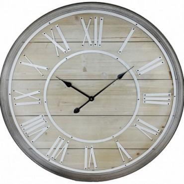 Horloge murale en bois avec chiffres romains 80cm