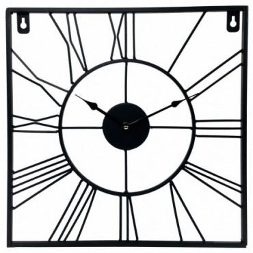 Horloge chiffres romains carré 40cm