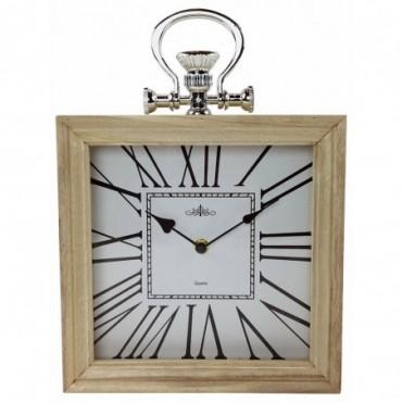 Horloge en bois compacte 24cm