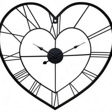 Horloge Cœur Chiffre romain 58cm