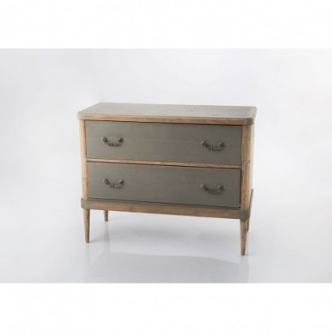 Commode 2 tiroirs Bicolor