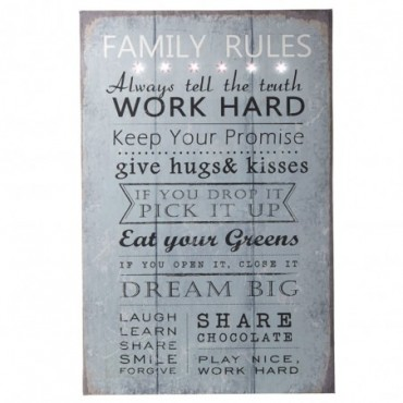 Tableau déco Family Rules