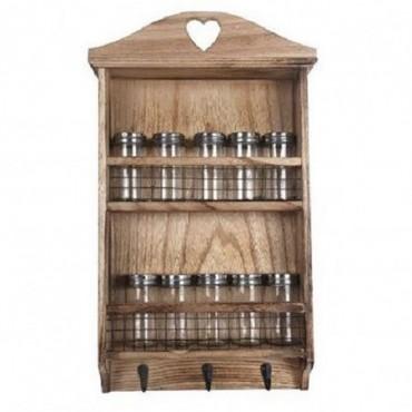 Petite étagère murale à épices en bois